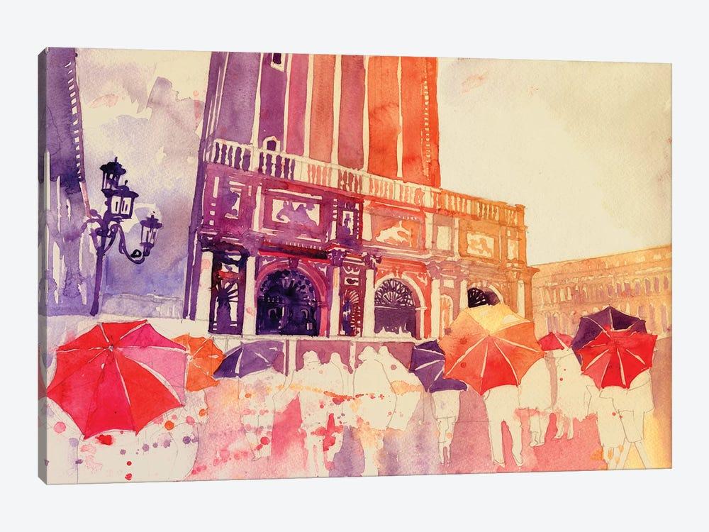 Summer Drizzle In Venezia by Maja Wronska 1-piece Art Print