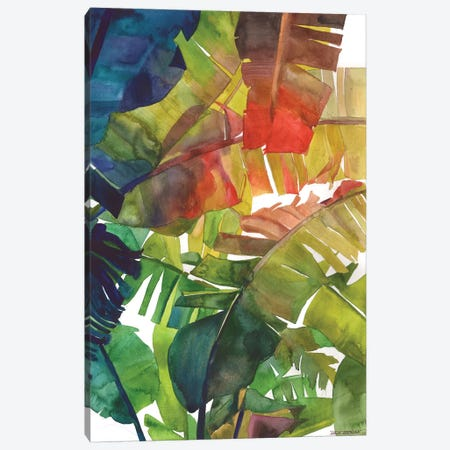 Banana Leaves Canvas Print #MWR3} by Maja Wronska Canvas Art