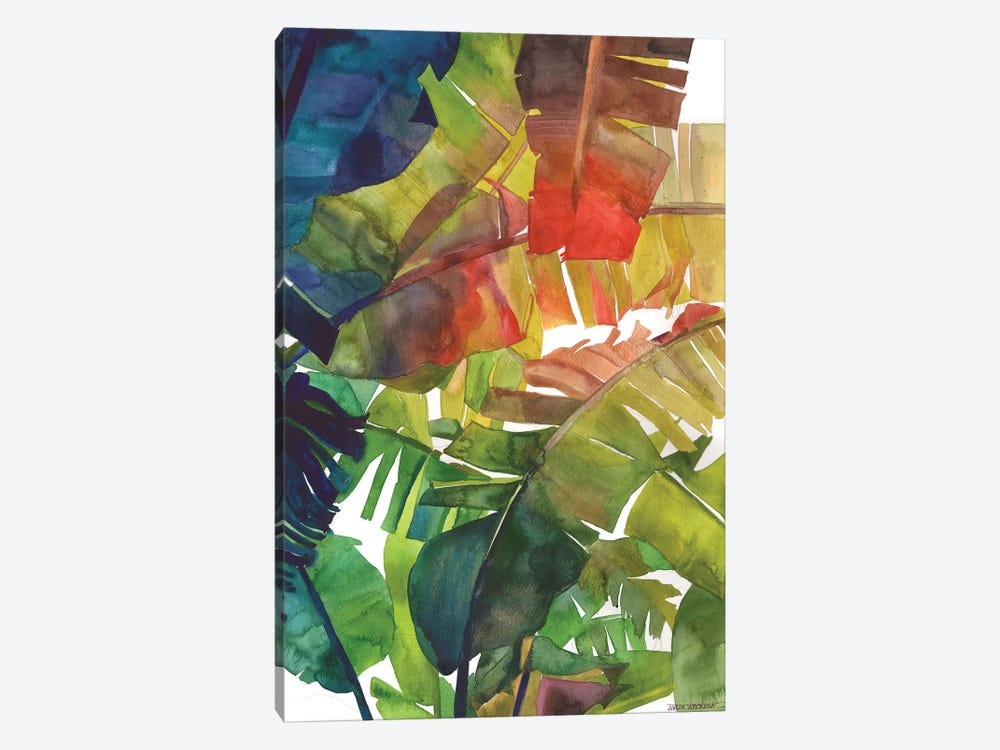 Banana Leaves by Maja Wronska 1-piece Canvas Art Print