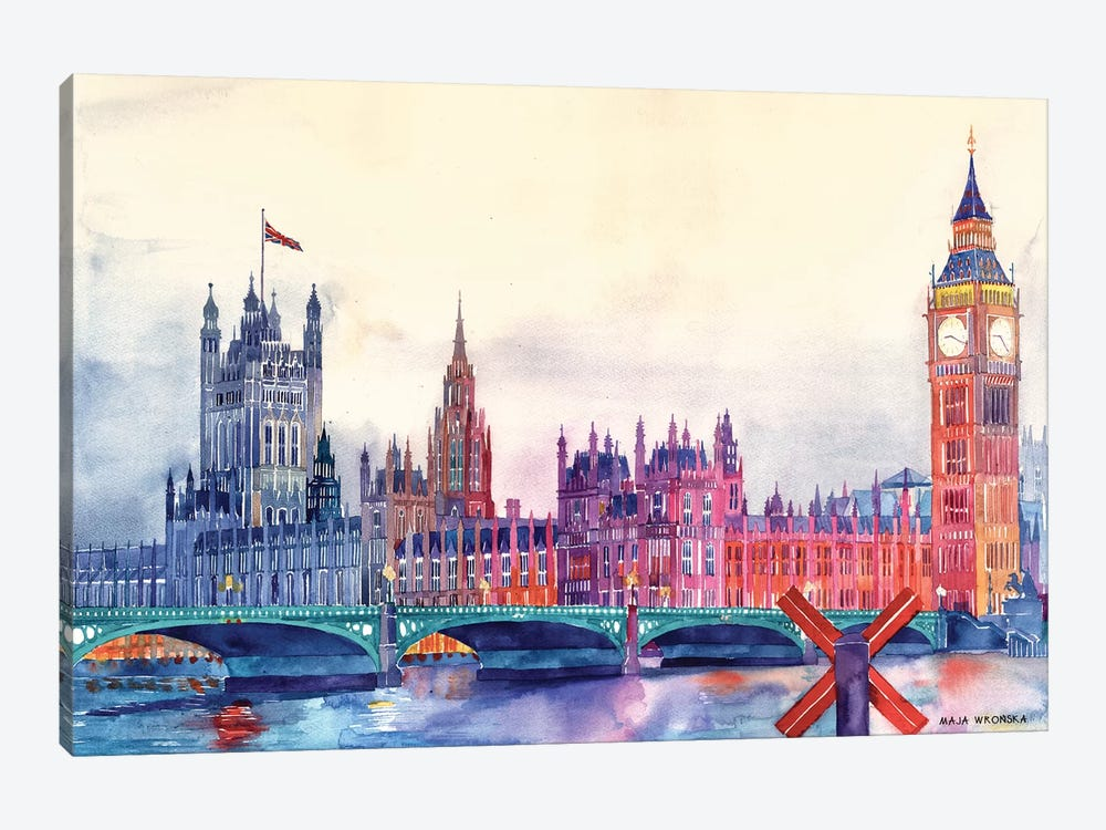 Sunset In London I by Maja Wronska 1-piece Art Print