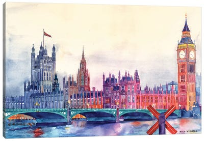 Sunset In London I Canvas Art Print