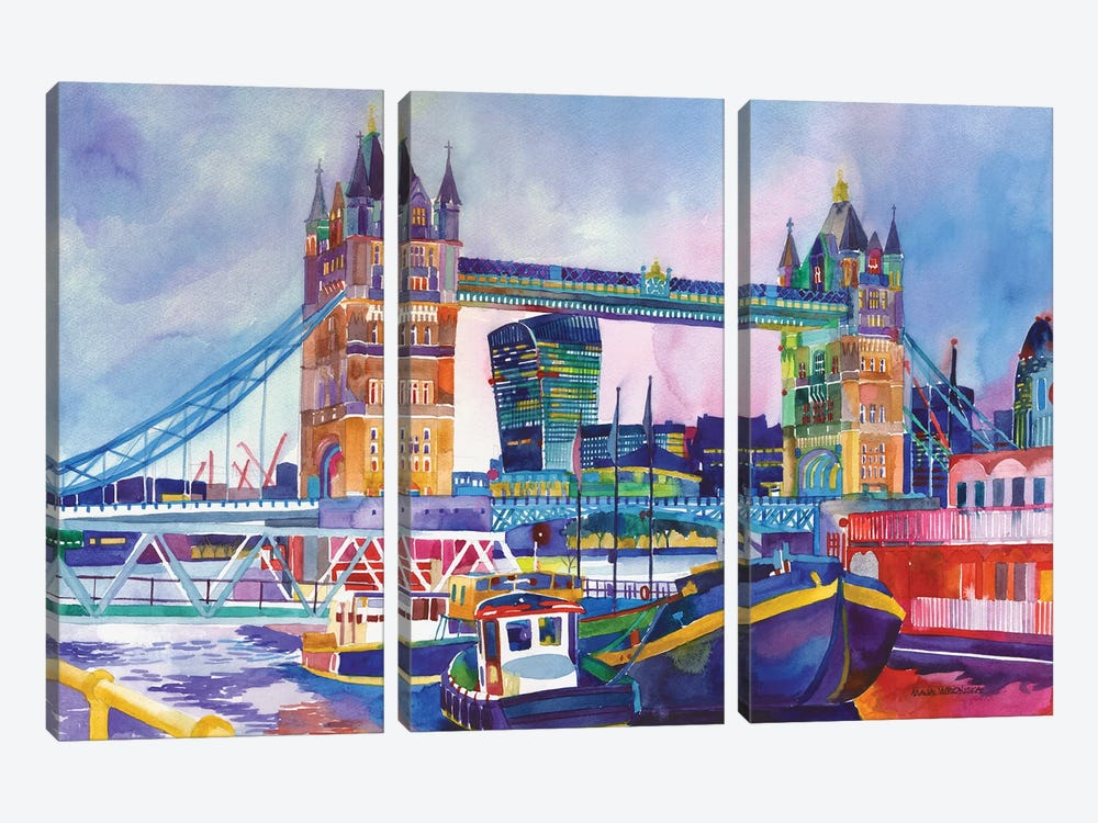 Sunset In London II 3-piece Canvas Artwork