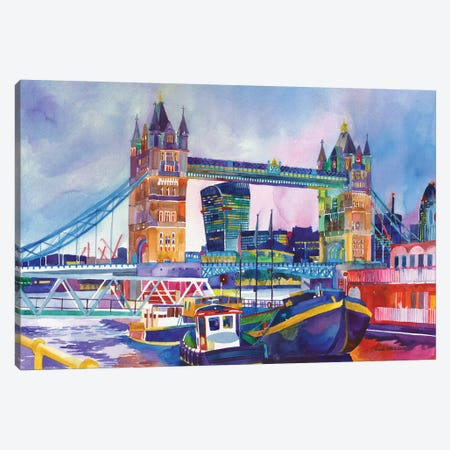 Sunset In London II Canvas Print #MWR41} by Maja Wronska Canvas Art