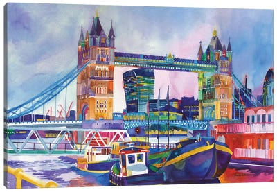 Sunset In London II Canvas Art Print