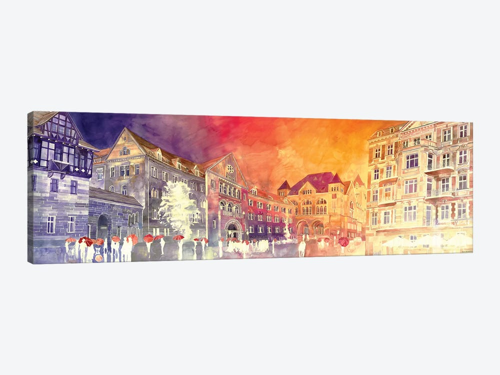 Sunset In Poznań by Maja Wronska 1-piece Art Print