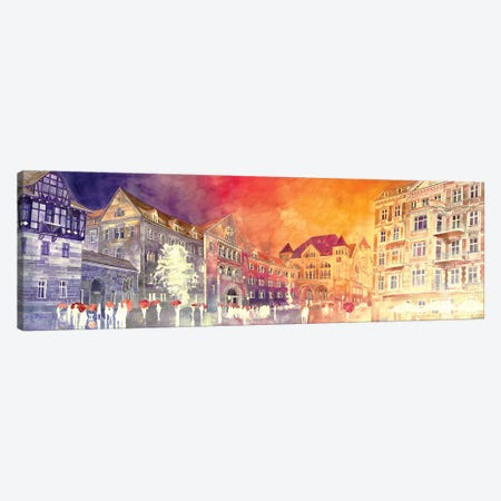 Sunset In Poznań Canvas Print #MWR42} by Maja Wronska Canvas Artwork