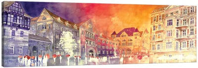 Sunset In Poznań Canvas Art Print