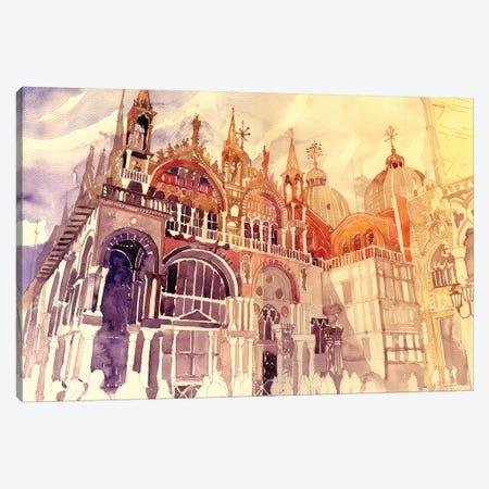 Sunset In Venice Canvas Print #MWR43} by Maja Wronska Canvas Art