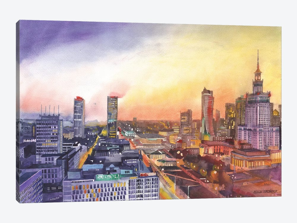 Sunset In Warsaw 1-piece Art Print