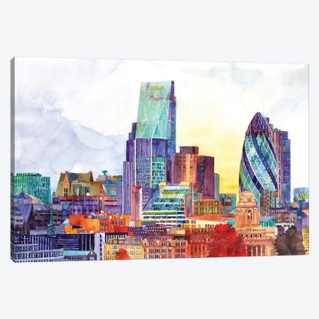 Sunshine In London Canvas Print #MWR45} by Maja Wronska Art Print