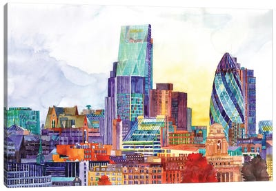 Sunshine In London Canvas Art Print