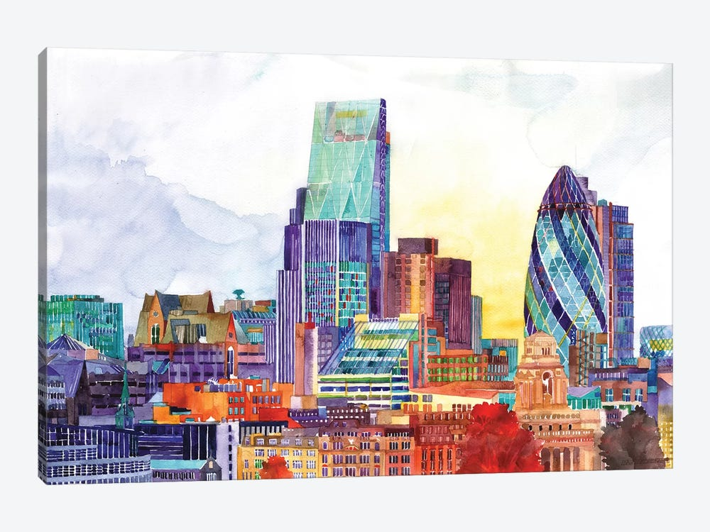 Sunshine In London by Maja Wronska 1-piece Canvas Art
