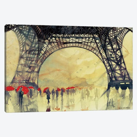 Winter In Paris Canvas Print #MWR47} by Maja Wronska Canvas Print