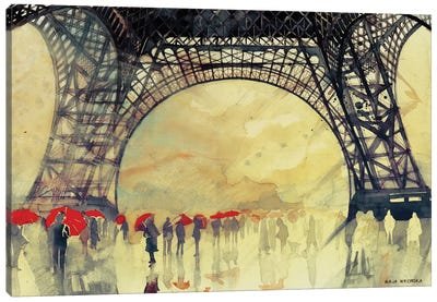 Winter In Paris Canvas Art Print