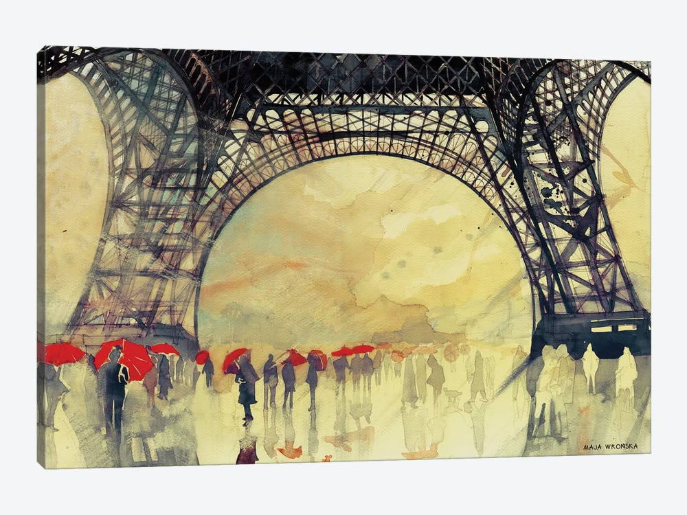 Winter In Paris by Maja Wronska 1-piece Canvas Art