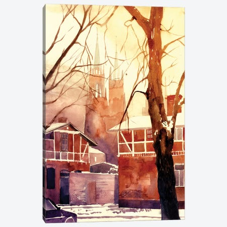 Winter In Poland Canvas Print #MWR48} by Maja Wronska Canvas Art