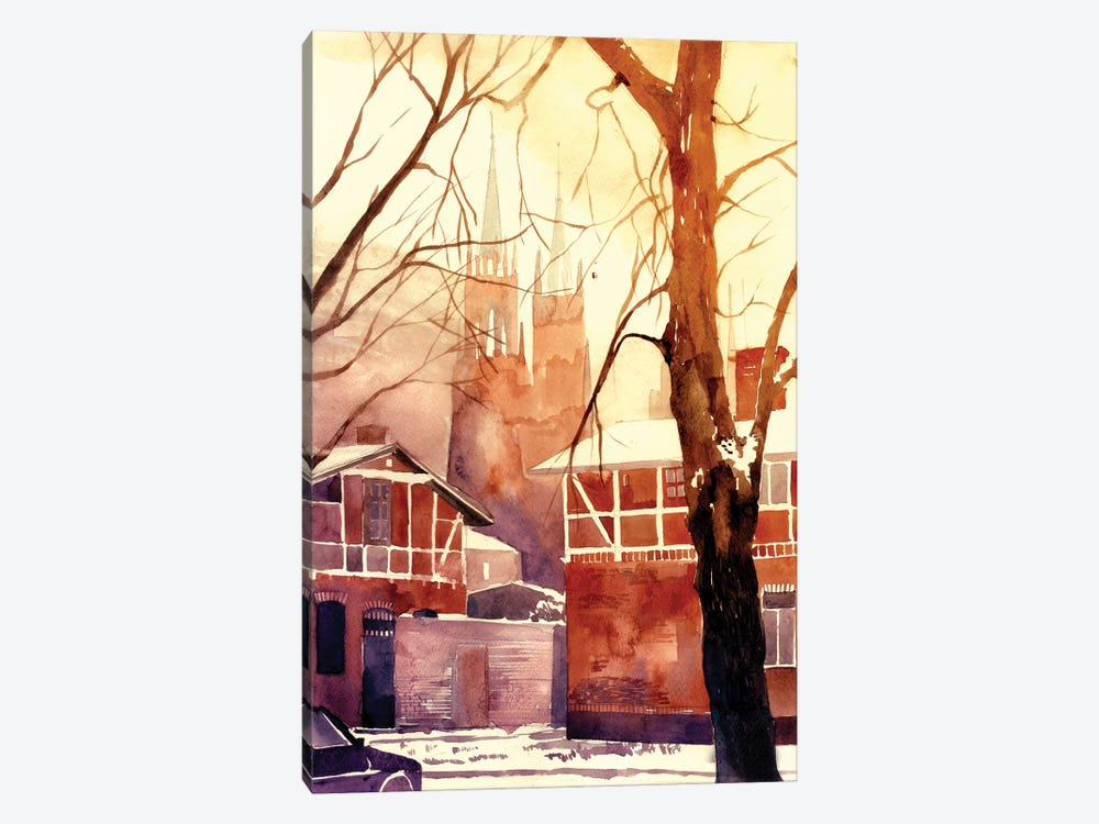 Winter In Poland by Maja Wronska 1-piece Canvas Print