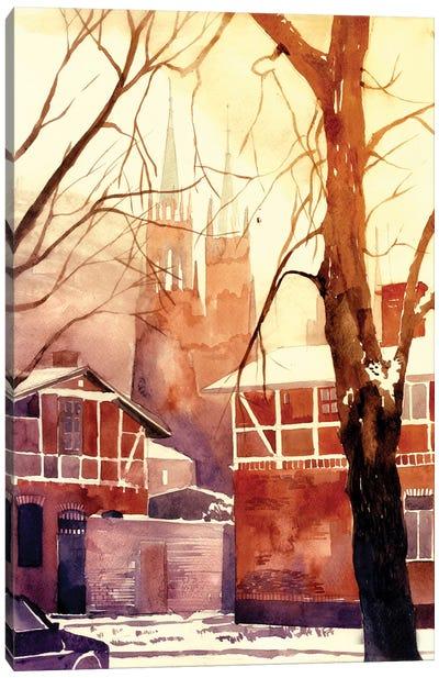 Winter In Poland Canvas Art Print