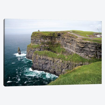 Limerick, Ireland. These Are Spectacular Views Of The Cliff's Of Moher And The Atlantic Ocean, On The West Coast Of Ireland. Canvas Print #MWR49} by Micah Wright Canvas Wall Art