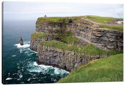 Limerick, Ireland. These Are Spectacular Views Of The Cliff's Of Moher And The Atlantic Ocean, On The West Coast Of Ireland. Canvas Art Print