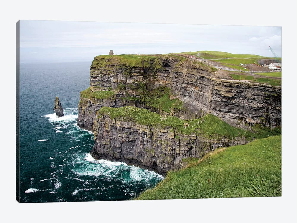 Limerick, Ireland. These Are Spectacular Views Of The Cliff's Of Moher And The Atlantic Ocean, On The West Coast Of Ireland. by Micah Wright 1-piece Canvas Artwork