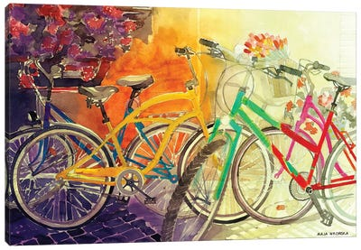 Bikes I Canvas Art Print
