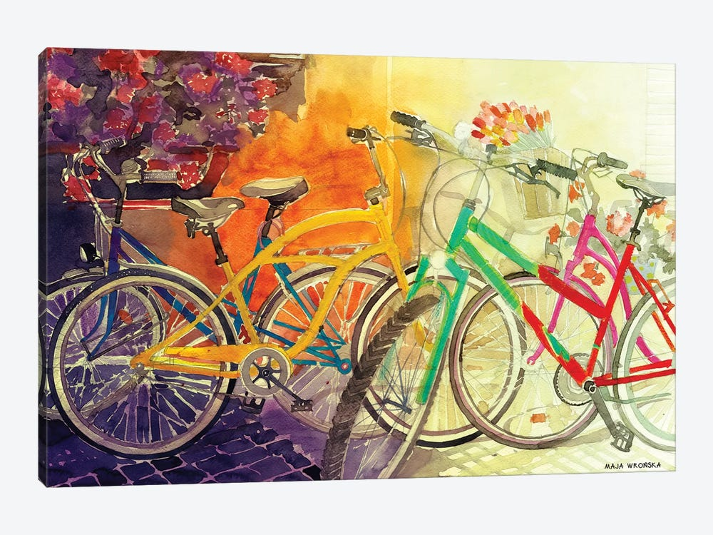 Bikes I by Maja Wronska 1-piece Canvas Art