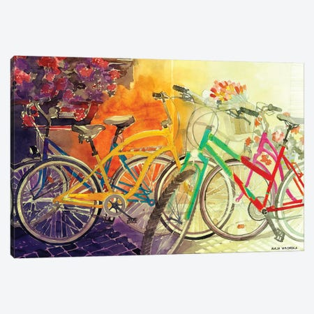 Bikes I 3-Piece Canvas #MWR4} by Maja Wronska Art Print