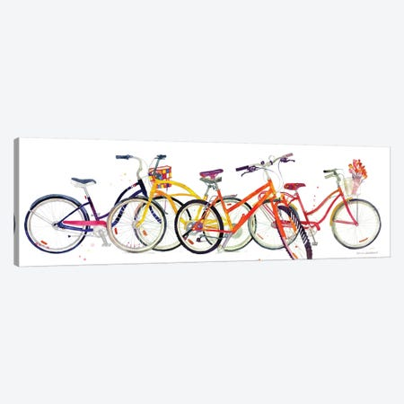 Bikes II Canvas Print #MWR5} by Maja Wronska Art Print