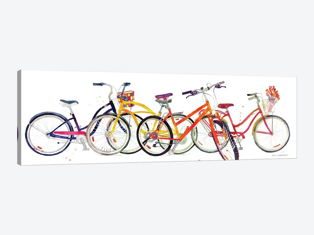 Bikes II by Maja Wronska 1-piece Art Print