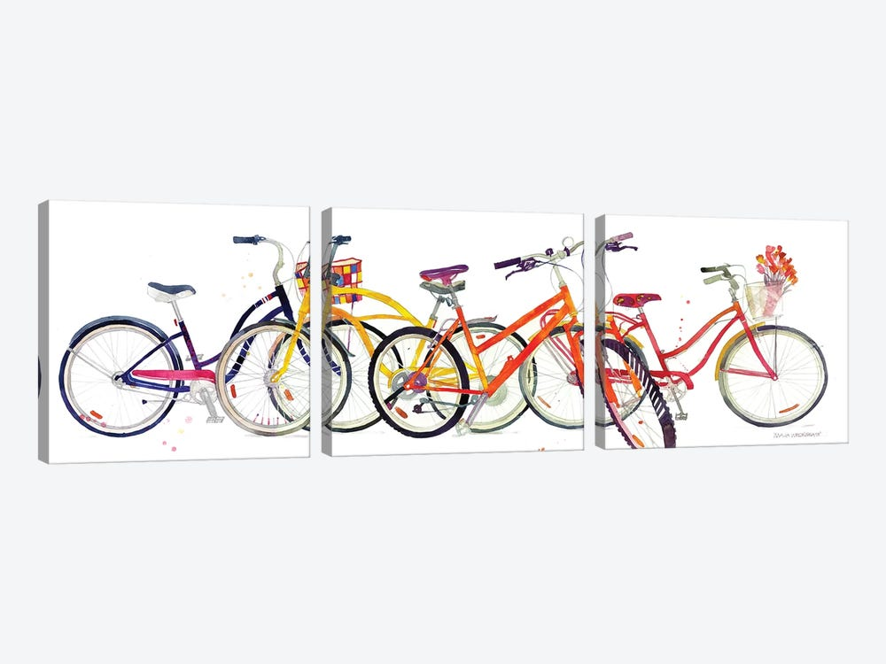 Bikes II by Maja Wronska 3-piece Art Print