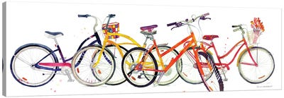 Bikes II Canvas Art Print