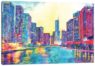 Chicago River Canvas Art Print