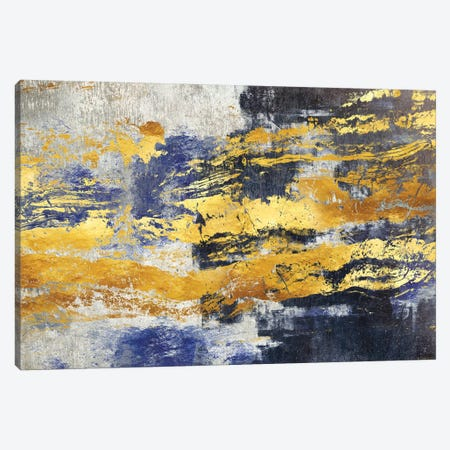 Gold And Blue Canvas Print #MXC34} by Maximiliano Casal Canvas Print
