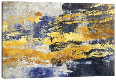 Gold And Blue Canvas Art Print
