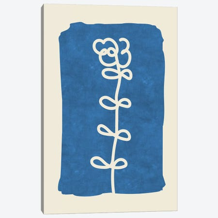 Sophisticated Lines On Blue I Canvas Print #MXC40} by Maximiliano Casal Canvas Art Print
