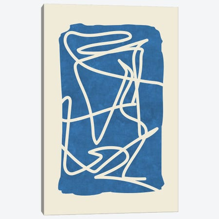 Sophisticated Lines On Blue II Canvas Print #MXC41} by Maximiliano Casal Canvas Print
