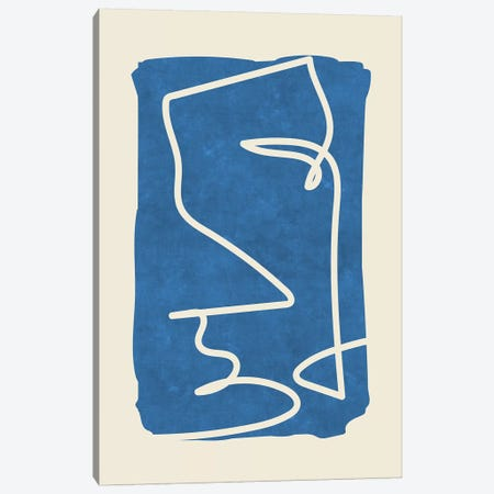 Sophisticated Lines On Blue III Canvas Print #MXC42} by Maximiliano Casal Art Print