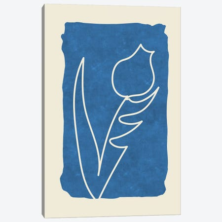 Sophisticated Lines On Blue VII Canvas Print #MXC46} by Maximiliano Casal Canvas Art