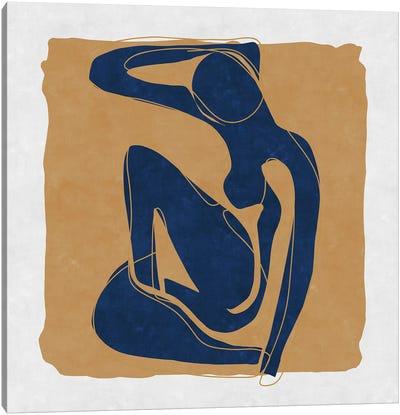 Nude Blue Woman 3 Canvas Art Print