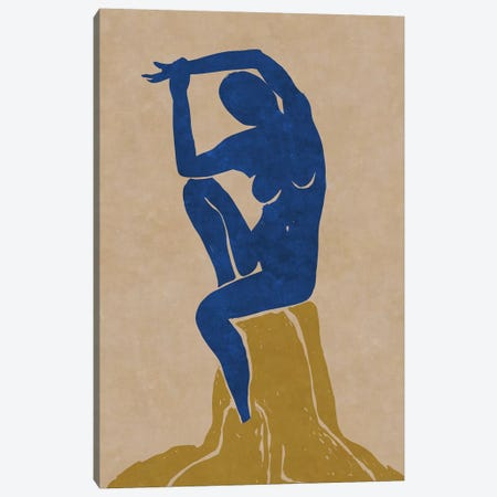 Nude Blue Woman 2 Canvas Print #MXC50} by Maximiliano Casal Canvas Wall Art