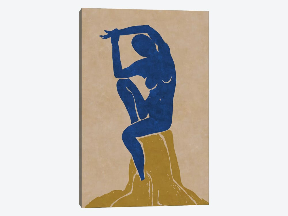 Nude Blue Woman 2 by Maximiliano Casal 1-piece Canvas Art Print
