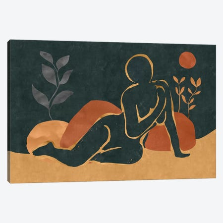Woman Resting In The Nature I 3-Piece Canvas #MXC51} by Maximiliano Casal Canvas Artwork