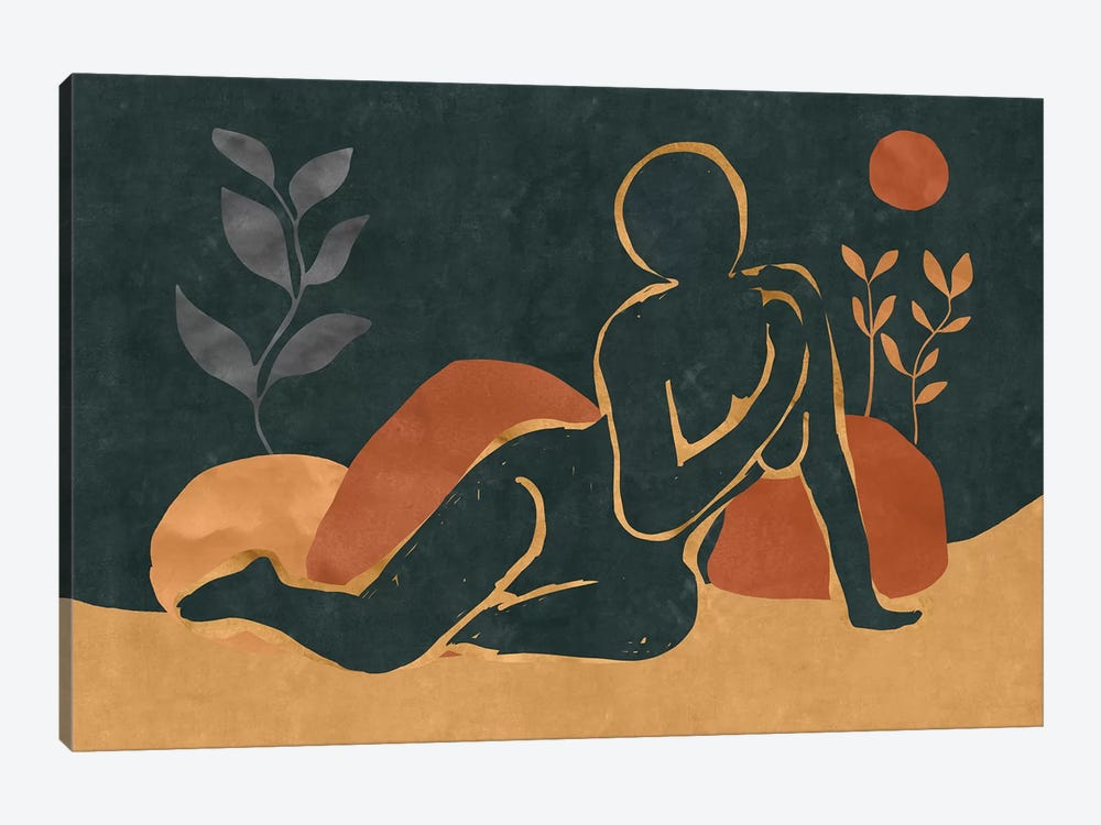 Woman Resting In The Nature I by Maximiliano Casal 1-piece Canvas Artwork