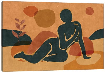 Woman Resting In The Nature II Canvas Art Print