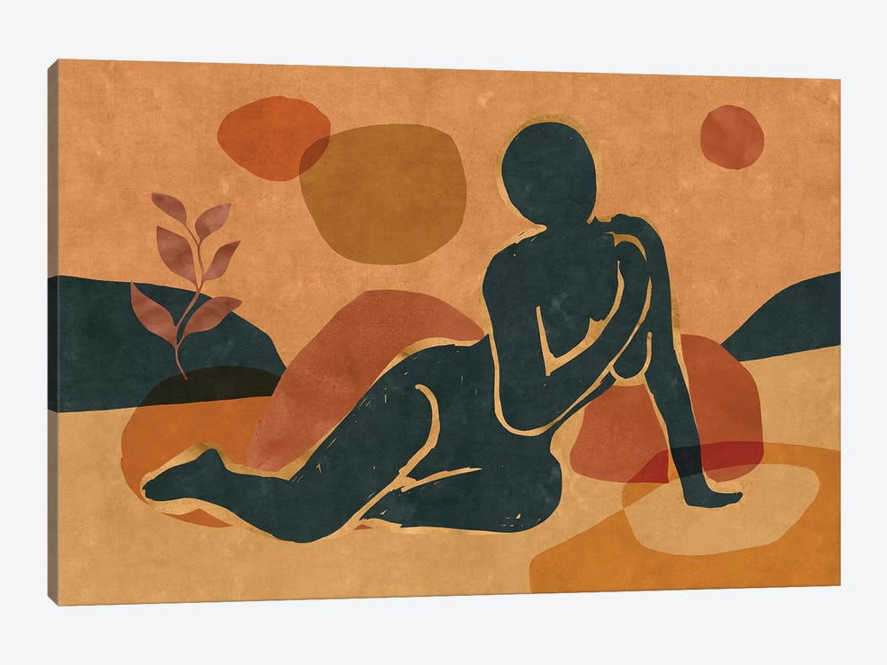 Woman Resting In The Nature II by Maximiliano Casal 1-piece Art Print
