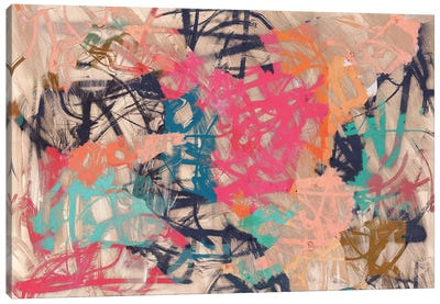 Abstract Love Canvas Art Print