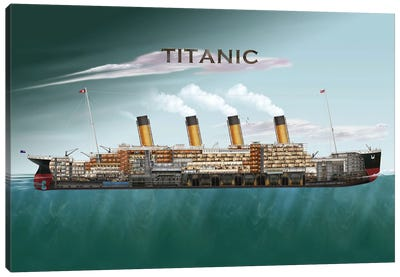 The Titanic Canvas Art Print