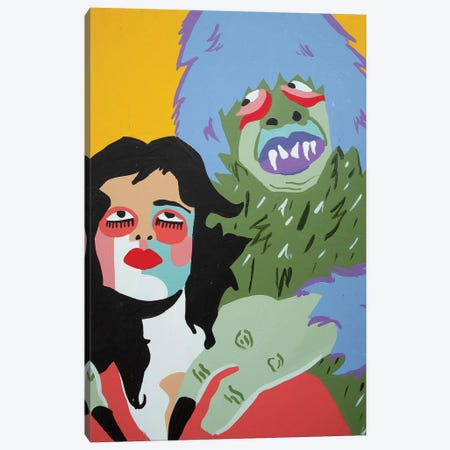 Monsters Canvas Print #MXM67} by Max Mayoral Canvas Art