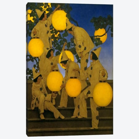 The Lantern Bearers Canvas Print #MXP12} by Maxfield Parrish Art Print
